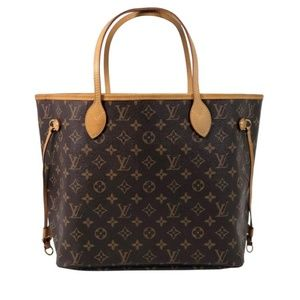 Louis Vuitton Monogram Neverfull MM with Beige